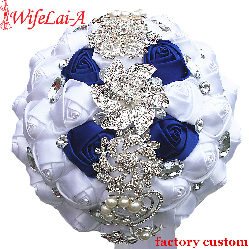 Aliexpress.com : Buy White Royal Blue Rose Flower Bride