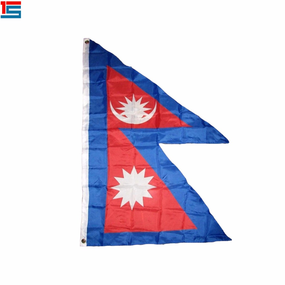 2018 New Arrival The Nepal <font><b>Flag</b></font> Polyester <font><b>Flag</b></font> 5*3 FT <font><b>150</b></font>*<font><b>90</b></font> CM High Quality Banner image