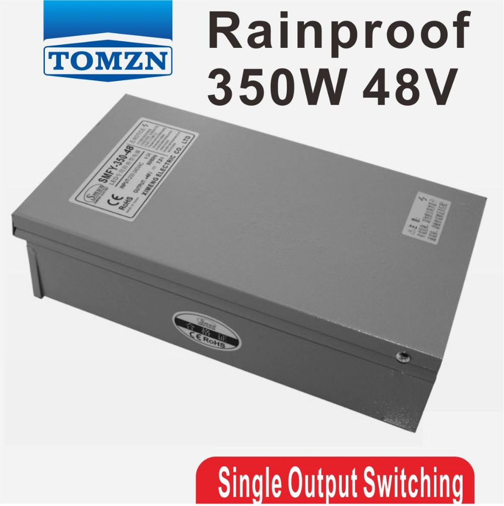 350W 48V 7.3A Rainproof outdoor Single Output Switching power supply smps AC TO DC for LED 60w 24v 2 5a rainproof outdoor single output switching power supply smps ac to dc for led