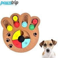 Interaktive Holzspielzeug Hundespielzeug Nahrungsmittelzufuhr Klaue Knochen Design Pädagogisches Hund Puzzle Spielzeug IQ Ausbildung Spiel Platte