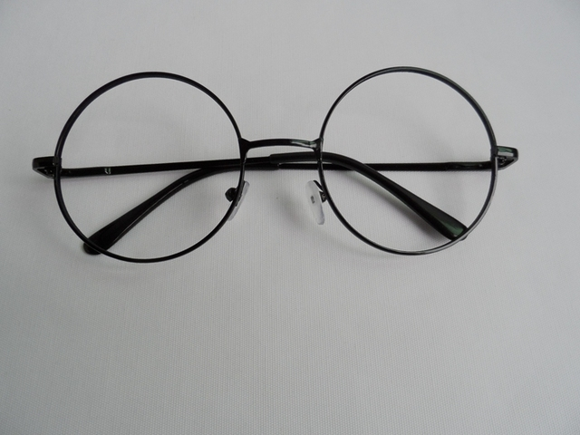 Free shipping Black metal frame glasses frames Performing glasses ...