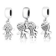 Красивая 925 пробы серебро для мальчиков и девочек Мотаться Бусины Fit оригинальные Подвески Пандора браслет DIY ювелирных изделий