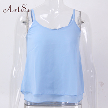 ArtSu Chiffon Blouse Women S-4XL 2017 Plus Size Clothing Tops Blouses Blusas Femininas Shirts Ladies Spring Summer Top LDVE60008