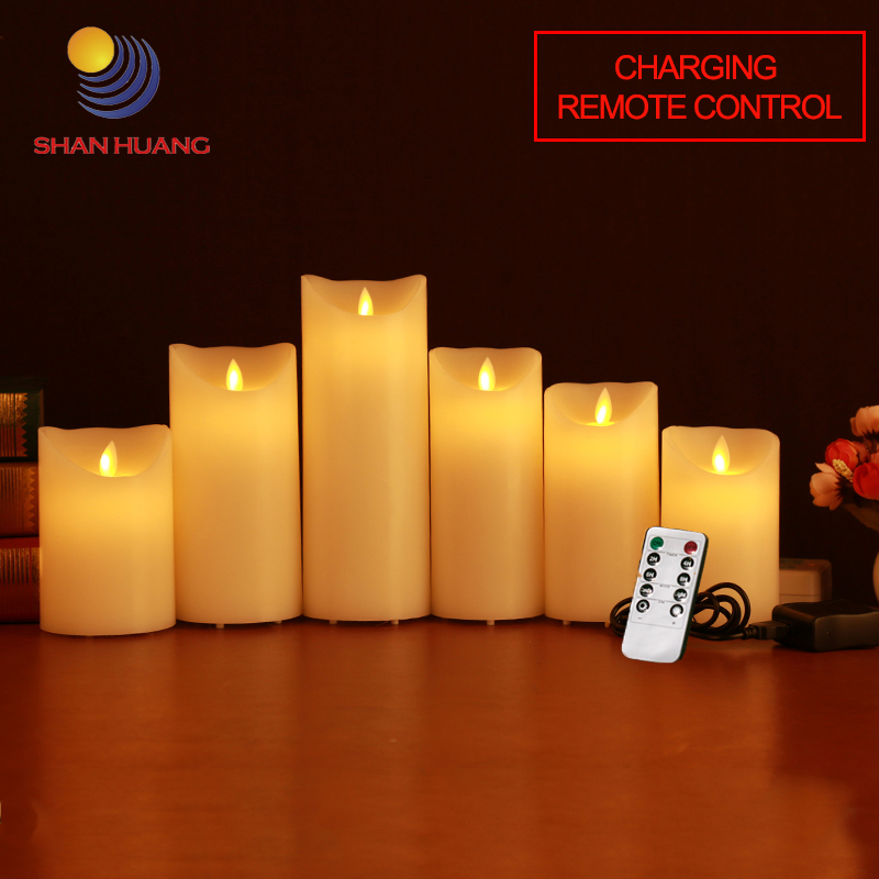<font><b>LED</b></font> candle Charging remote control <font><b>electronic</b></font> candles flame swing rechargeable decorative candles