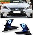 Carro-styling CT220h Luzes de Circulação Diurnas LED Para Lexus F Esporte 2014-2017 Luz de Nevoeiro COB Angel Eyes DRL Bulbos de Halogênio H11 55 W