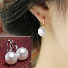 Women Imitation Pearls Ball Hook Earrings Eardrops Bridal Wedding Party Jewelry tassel earrings for women indian jewelry new(China)