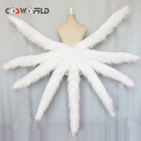Cosworld Game LOL Cosplay Costumes Sexy Fox Ahri Nine Tailed Upgraded Transform Model Tail Cosplay 5colors