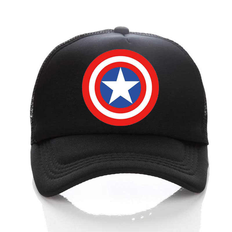 1542d48a94b11 ... Captain America Shield Logo Baseball Caps Mesh Cap Free Custom Design  100% Polyester Blank Hip