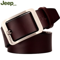 Belt Men Genuine Leather Luxury Brand Strap Classic JEEPguide Pin Buckle Belts For Men Designer