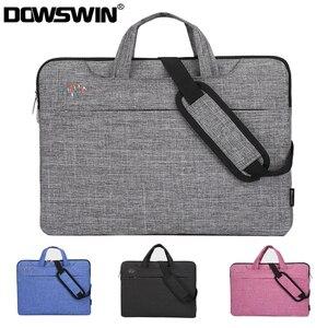 Image 1 - Laptop Tas Voor Macbook Air 13 Case Laptop Sleeve 15.6 Notebook Tas 14 15 Inch Schoudertas Voor Dell HP lenovo Asus Acer