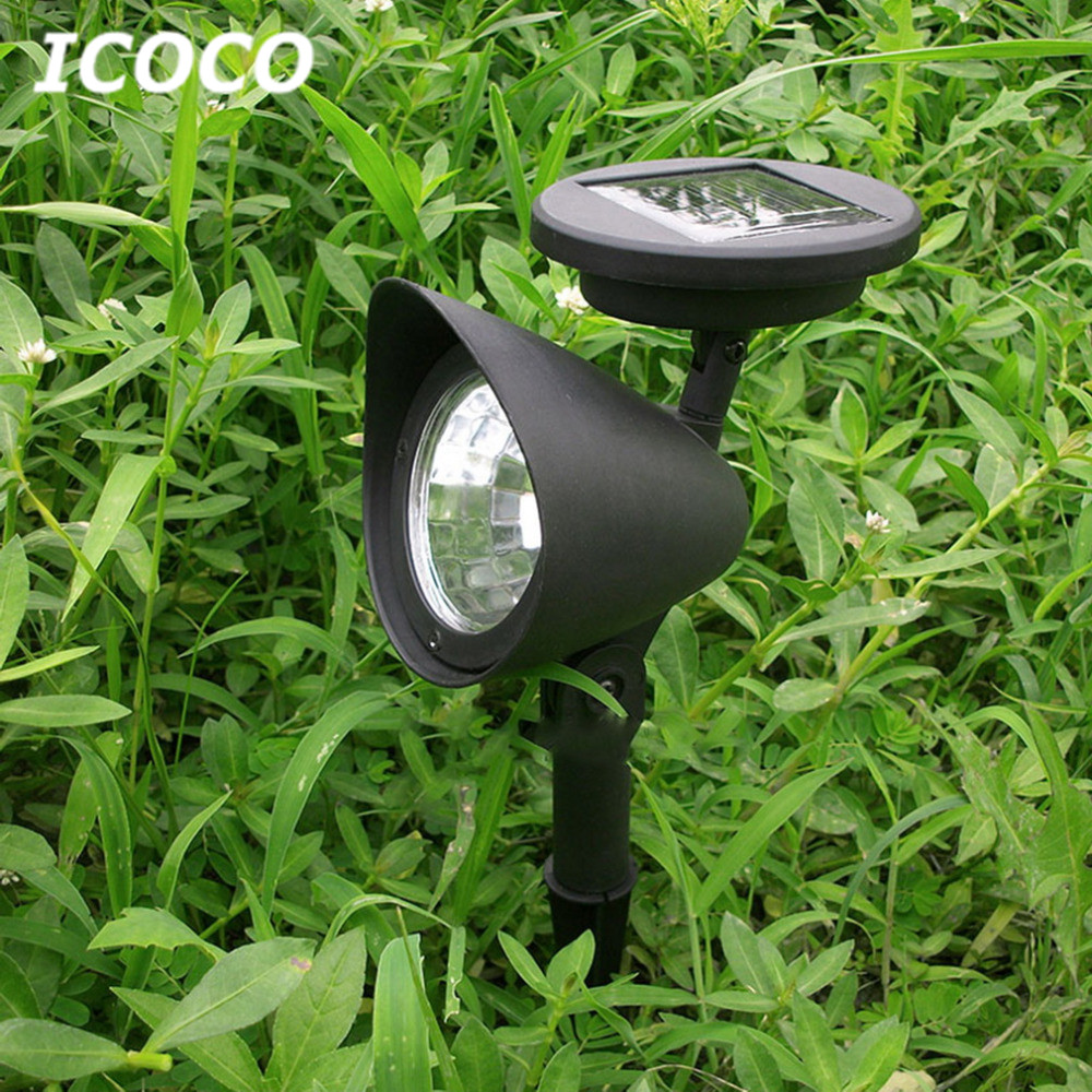 ICOCO 3 LEDs Solar Power LED Spotlight Outdoor Garden Landscape Lawn Yard Path Solar Spot Light Lamp Auto On Drop Ship remote control single chain home window opener home window actuator remote control single chain