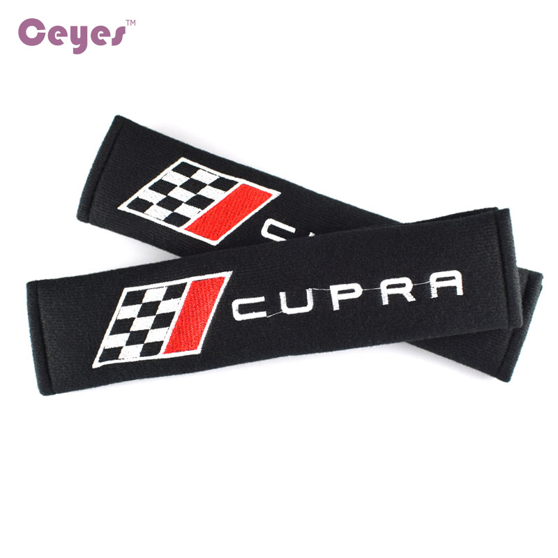 Ceyes Excellent Car Styling Car Shoulders Pads Case For Seat Leon 2 FR+ Cupra Lbiza Auto Seat Belt Cover Car-Styling Accessories