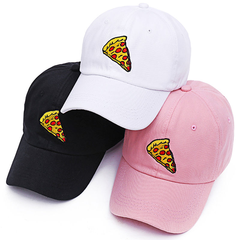 VORON new pizza embroidery dad cap Trucker cotton Hat For Women Men Adjustable Size Baseball Cap