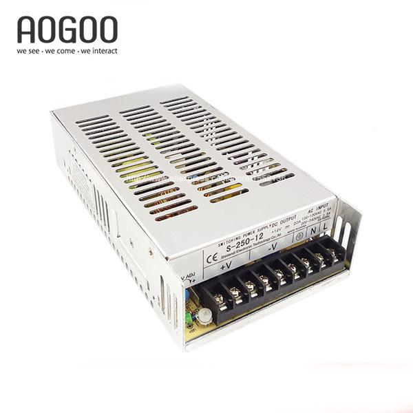 250W 12V 20A LED Light Devices Switching Power Supply  S-250-12 s 250 12 12v 20a 250w switching power supply silver