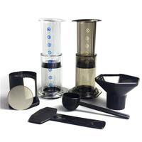 7pcs/set Portable Coffee Espresso Maker Press Pot Filter Paper Machine Filtering Tool Set Coffee Tea Supplies New
