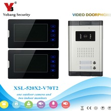 YobangSecurity 1-Camera 1-Monitor 7″ Video Door Phone Video Intercom Home Doorbell System Night Vision 2-way Access Control