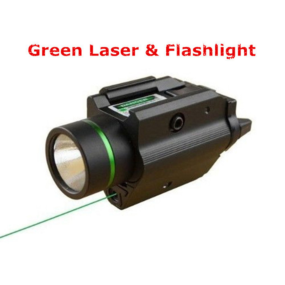 Hunting Combo Metal Green Dot Laser Sight LED Flashlight 200LM 3W with 20mm Rail Weaver Picatinny For Glock 17 xl nxf rg 5mw green laser gun sight w weaver mount led flashlight black 3 x cr 1 3n