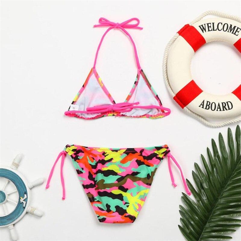 0e1ca778a2 wholesale drop shipping 2Pcs Toddler Girls Camouflage Swimwear Bathing  Bikini Brief Set Outfits Swimsuit Fashion S3JUN7-in Swimwear from Mother    Kids on ...