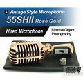 Бесплатная Доставка! розовое Золото Цвет Экспортный Вариант 55SH II Динамический Микрофон Вокальный 55SH2 Классическая Vintage Style M 55SH SERIES II