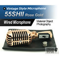 Free Shipping! Rose Gold Color Export Version 55SH II Dynamic Microphone Vocal 55SH2 Classical Vintage Style M 55SH Series II