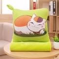 Natsume's Book of Friends cat teacher warm Shou wu pillow cat teacher with three blankets,plush toys kidz children girl gift
