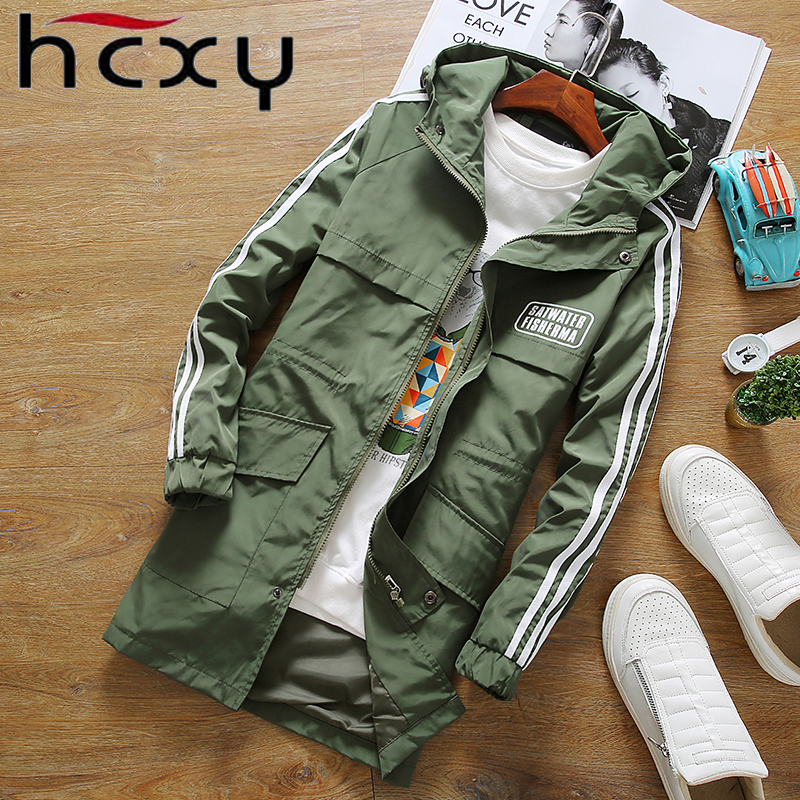 2017 new autumn and winter clothing men and women brand jackets joggersattire casual coat long section