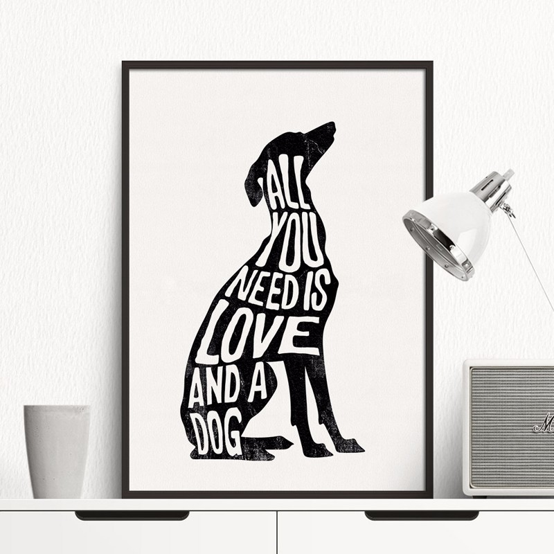 Pablo Picasso The Dog Print Canvas Abstract Animals Minimalist Wall Art Kids Room Bar Office, Home Decor,No frame  included