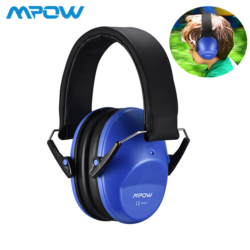 Mpow HP046 Kids Safety Ear Muffs Noise Reduction Shooter Hearing Protection NRR 25dB Professional Noise Reduction For Children