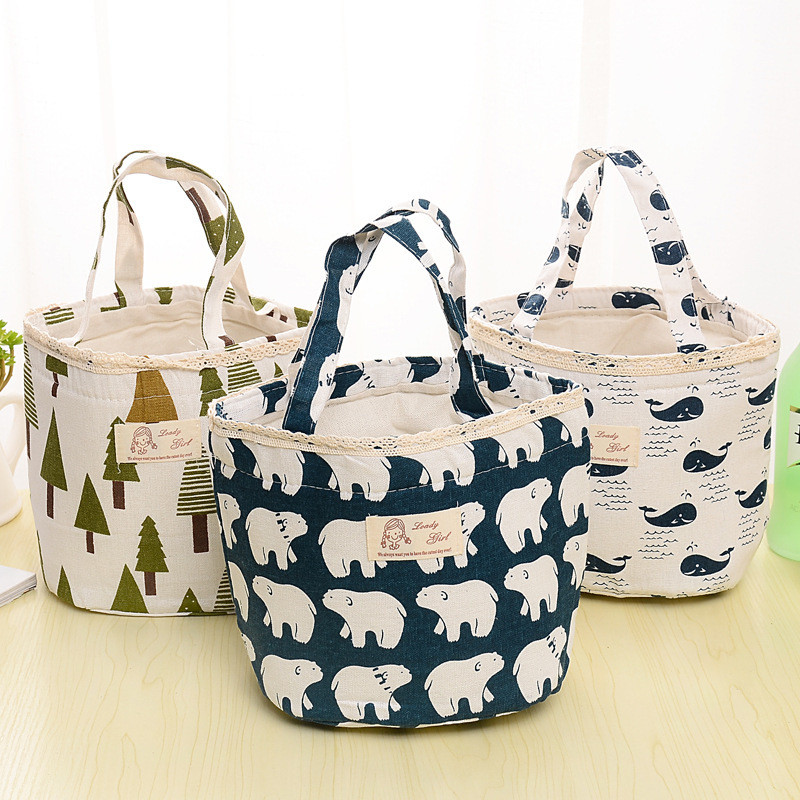 Ladies Portable Kids Lunch Bag Insulated Cooler Bags Keep