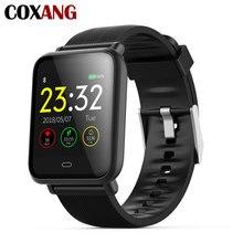 Coxang q9 스마트 시계 남성/여성 혈압 심장 박동 모니터 피트니스 트래커 안드로이드 ios에 대한 방수 스포츠 smartwatch