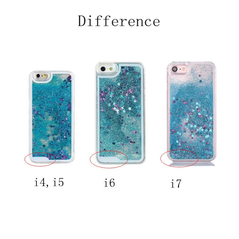 timeless design 495ec c16d6 US $2.49 |Clear Liquid Glitter Drift Sand Waterfall Case for iPhone 7 7plus  6 6s 4.7'' plus 6plus 5.5'' 5 5s phone back cover fundas cases-in Fitted ...