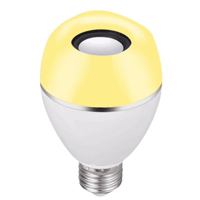 JLAPRIRA динамик Bluetooth лампы E27 светодиодный RGB свет Музыка лампа Изменение цвета через Wi Fi приложение управление плеер беспроводной 110 В 220 В - 6