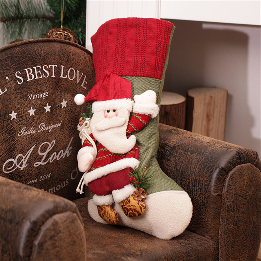 Large Creative Christmas Stocking,Chrismas Decorations for Home Christmas Tree Ornaments,Gift Holders Stockings Enfeite De Natal