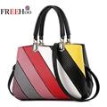 2017 new luxury fashion brands stitching Pu shoulder bag handbag women bags