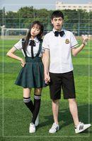 2017 Summer Navy Blue Cotton Japanese Student School Uniforms Set Suit For Girls Boys Waistcoat Vest