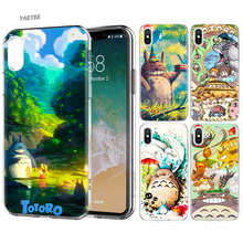 Studio Ghibli Spirited Away Totoro Silicone Phone Case For Apple iPhone 6 6S 7 8 Plus X XS MAX XR 5S 5C SE 5 7Plus 6SPlus Cover все цены