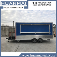 Concession Food Trailers Catering Street Food Carts Mobile Food Trucks 4800x2100x2600mm