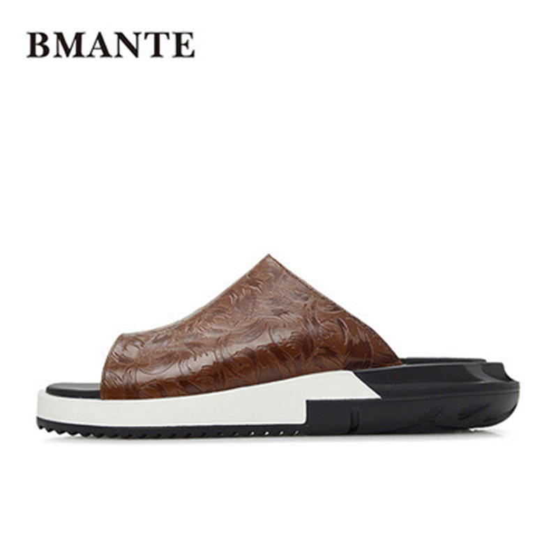 New Men Casual Beach Sandal Basic Luxury Slippers Men Summer Shoes Concise Roma Popular Flat Men Retro Slippers