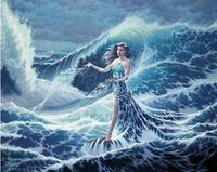 NEW Arrival DIY Diamond Embroidery Beauty Sea 5D Diamond Painting Cross Stitch Kits Women 3D R