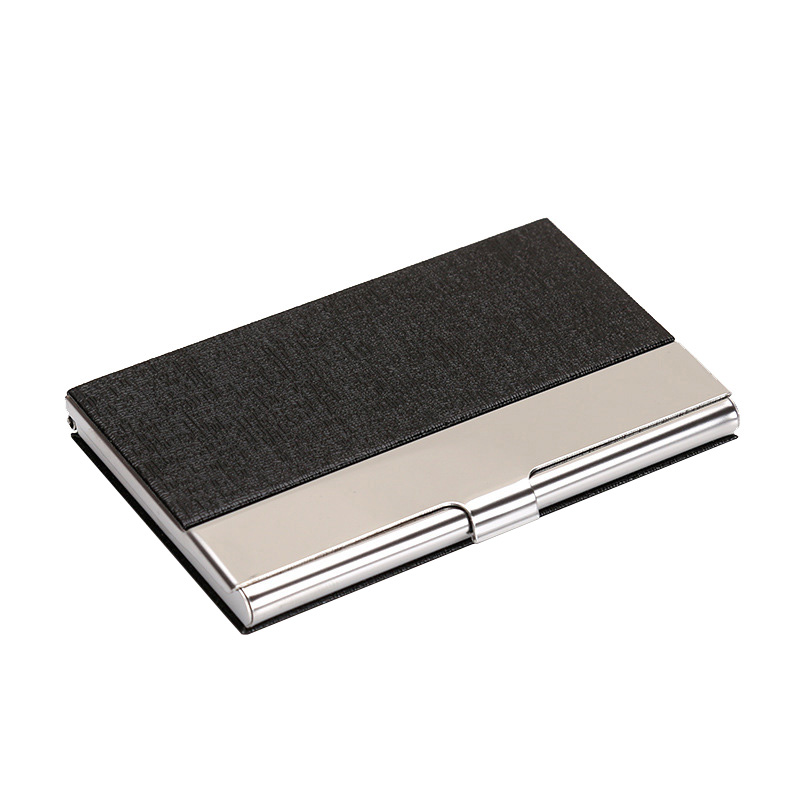 New Fashion Unisex Slim Metal credit card holder Men's wallet for business cards ID card case for women 6 colors 2018 new women genuine cow leather card wallet fashion metal hasp lady business credit id cards holder case ch002