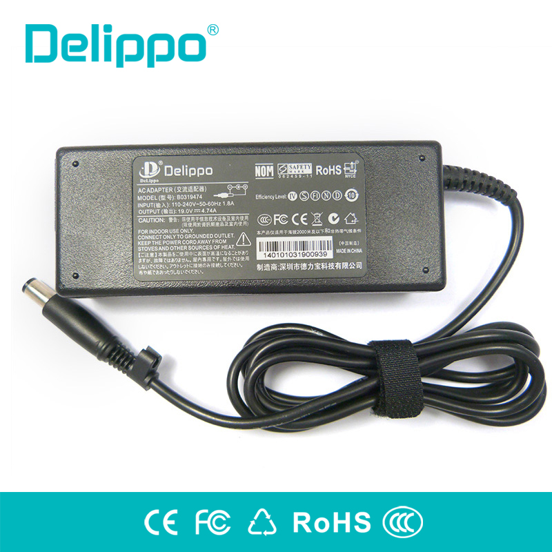 Delippo 19V 4.74A 90w Laptop AC DC Power Supply Adapter Charger for HP Probook 4440s 4535s 4530S 4540S 4545s 6470b 6475b 6570b rockspace eb30