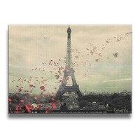 ปารีสศิลปะไร้กรอบภาพถ่ายผนังไม้กรอบพิมพ์16*20นิ้ว
