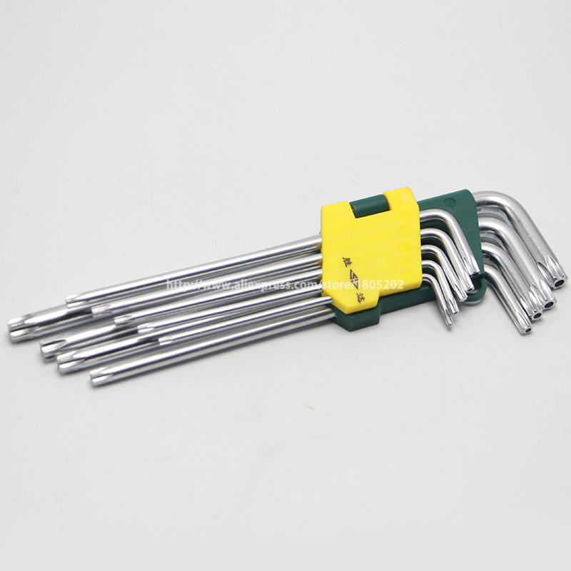 9 IN 1 Heagon Socket Key L Type Plum Blossom Hex Key Wrench Set Combination Wrench