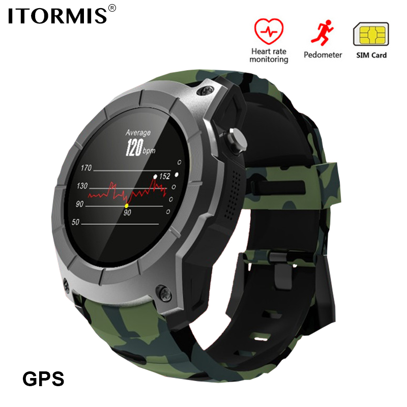ITORMIS Bluetooth GPS Smart Watch SmartWatch Phone Watch Sports Support SIM TF Card Heart Rate Fitness Tracker for Android IOS itormis bluetooth gps smart watch smartwatch sim card phone watch fitness heart rate tracker multi sport mode for android ios