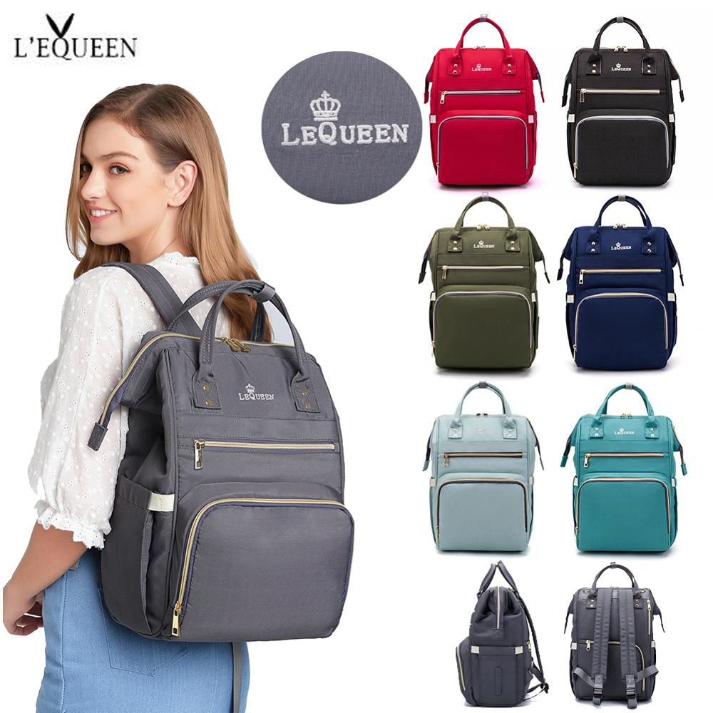 Lequeen Diaper Bag Backpack Mummy Large Capacity Bag Mom Baby Multi-function Waterproof Outdoor Travel Diaper Bags For Baby Care
