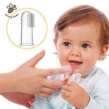 Лиственные gum зубы палец массаж ясно baby зубная силиконовые щетка детская