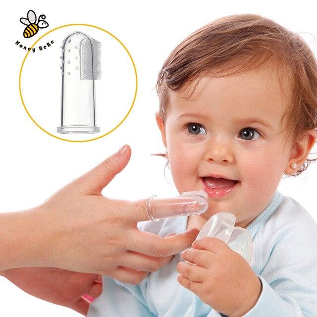 Baby Дети Силиконовые Палец Зубная Щетка Детей Зубы Ясно Gum Щетка Детская Лиственные Зубная Щетка Массаж детская Зубная Щетка