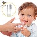 Bebés y niños de silicona dedo cepillo de dientes para niños cepillo de dientes gum transparente infantil caducifolio dientes cepillo de masaje cepillo de dientes de los niños