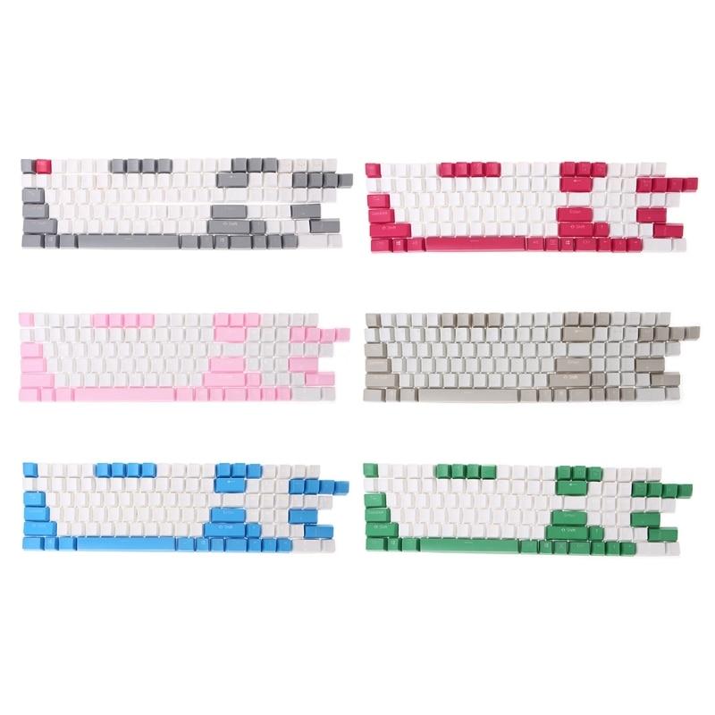 108 Keys Backlight PBT Keycaps For Corsair STRAFE K65/K70 Logitech G710+
