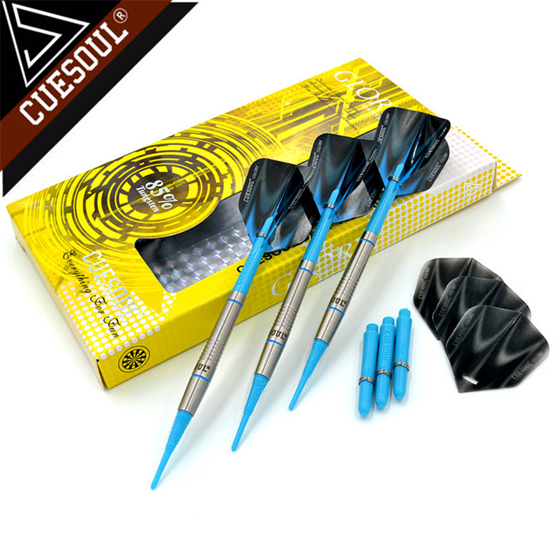 CUESOUL 85% Tungsten Darts 18g 14cm Professional Soft Tip Darts Electronic Darts Red Darts Flights CSGL-N2202 cuesoul 24 26 28g professional 85% tungsten steel tip darts 145mm with nylon shafts csgl n2209